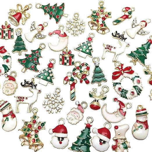 Libiline - 38 Colgantes de Navidad para Collar, Pulsera ...