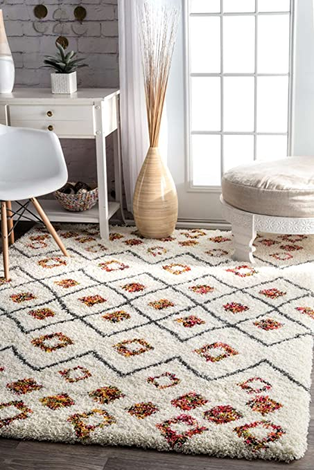 Modern Shag Rug Shaggy Area Rug Carpet Floor Mat White Soft Fluffy Rug  Living Room Bedroom