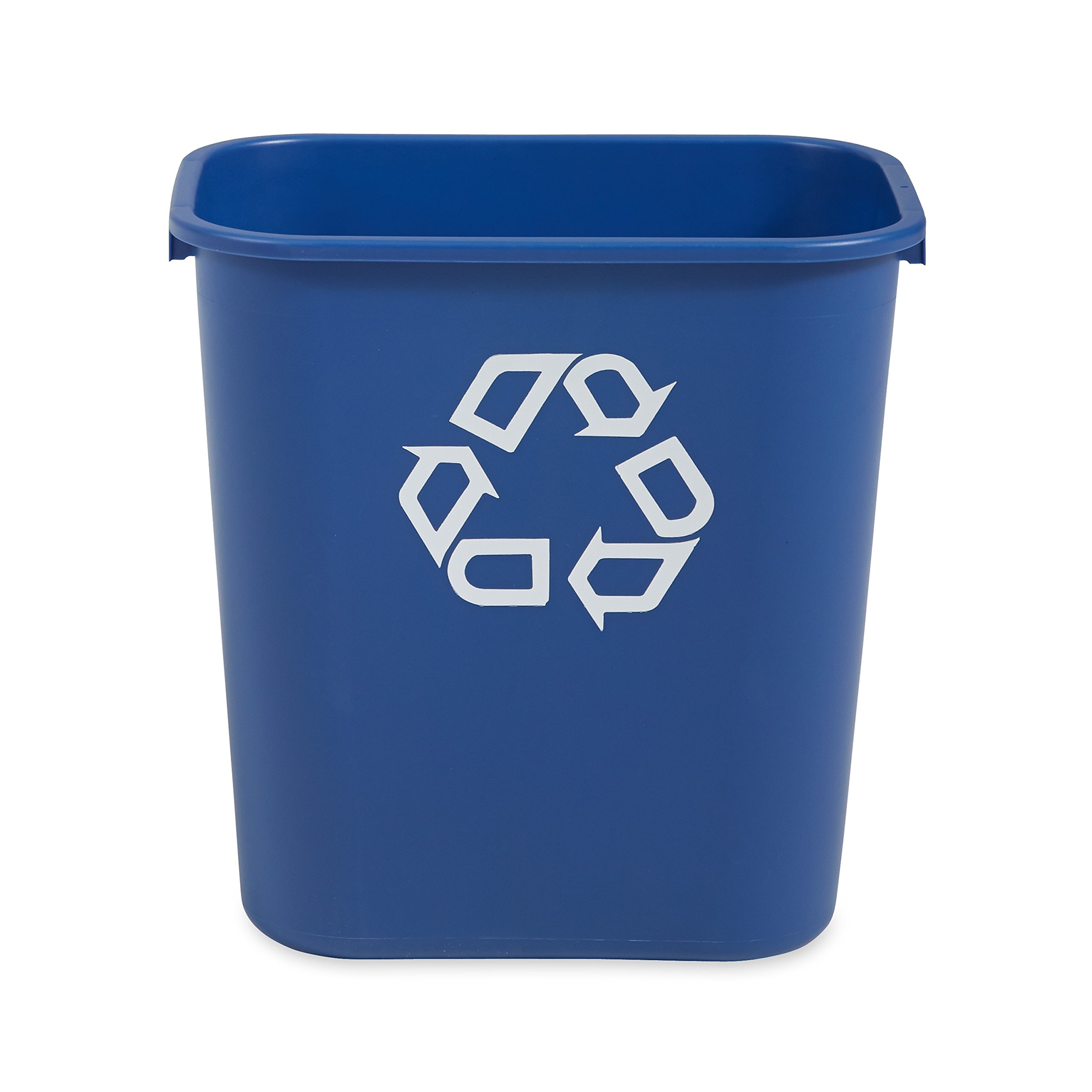 Rubbermaid Commercial Deskside Recycling Container, Medium, 7 Gallon, Blue (Pack of 12) (FG295673BLUE)