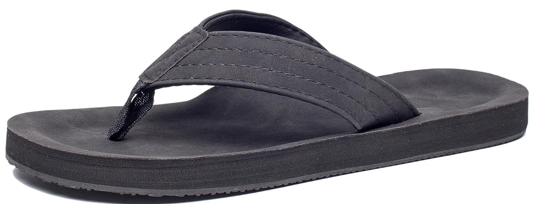 f712b2e74514 Viihahn Men s Flip Flops Summer Beach Sandals Lightweight EVA Sole  Classical Comfortable Extra Large Size Wide Platform Thong Fashion Arch  Support Non-Slip ...