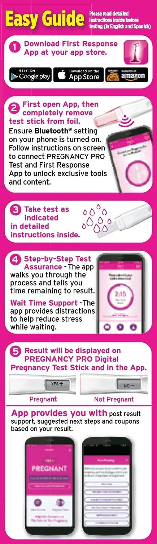 Amazon First Response Pro Digital Pregnancy Test Kit Health
