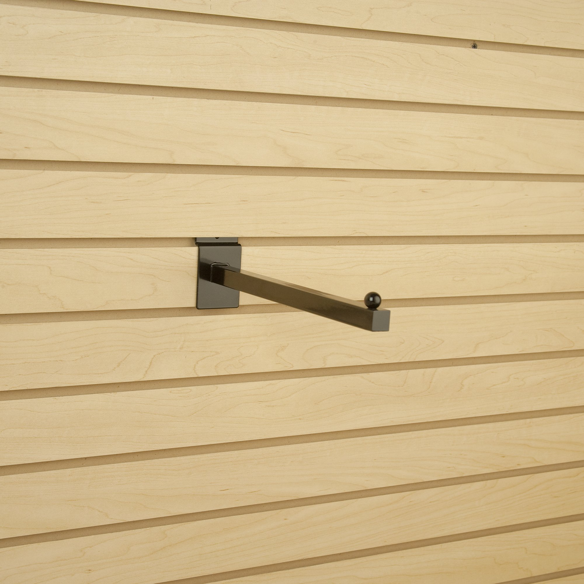 12 Chrome Pack of 24 Econoco Slat Wall Faceout Straight Arm
