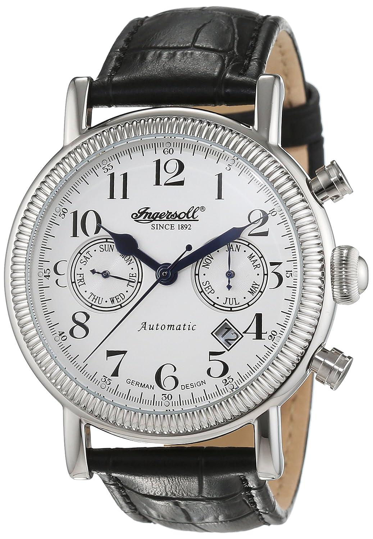 Herren Butterfield In1828wh Chronograph Ingersoll Leder Armbanduhr Automatik CosxthrdBQ