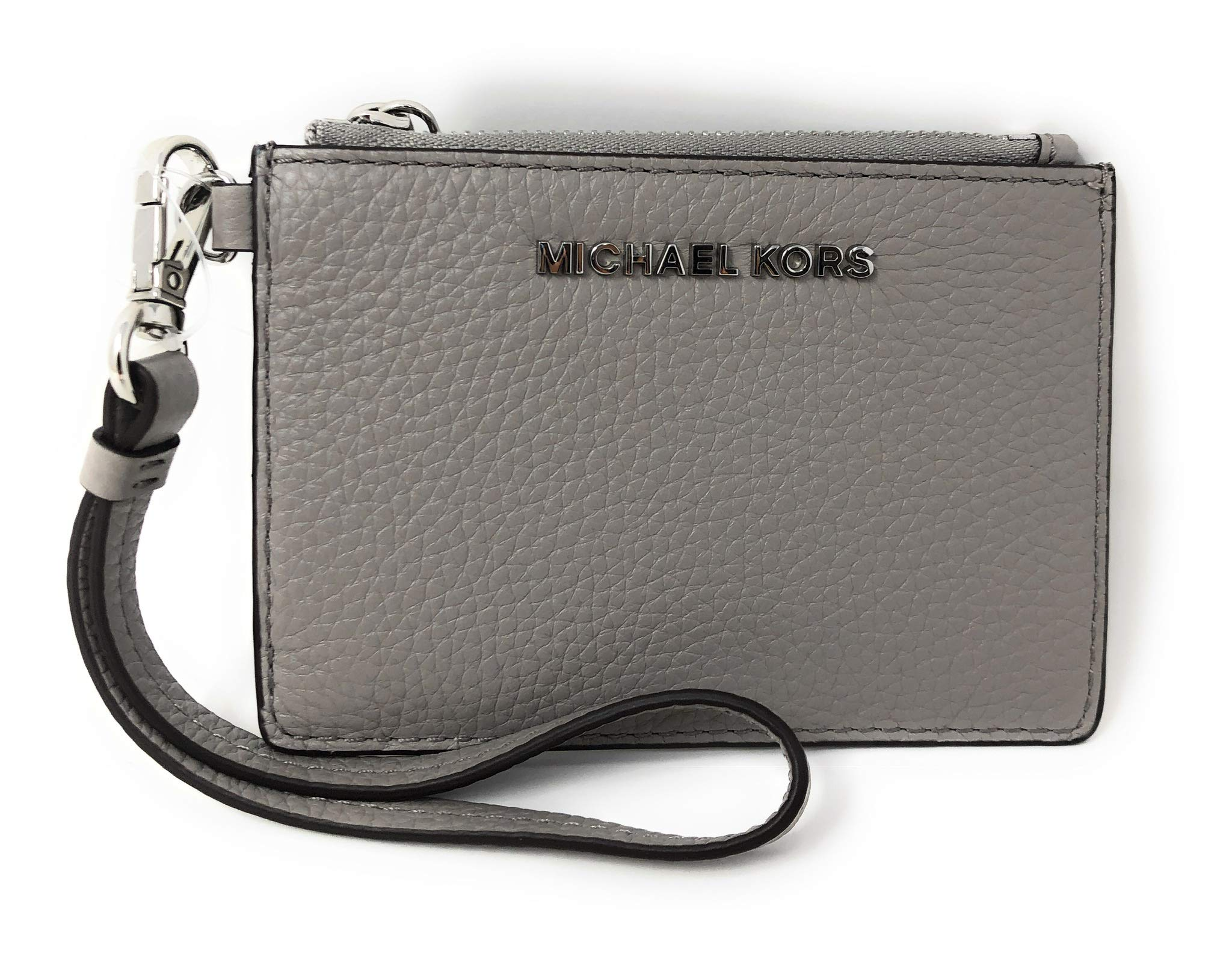 Michael Kors Coin Purse Card Case Wristlet Wallet Pearl Grey