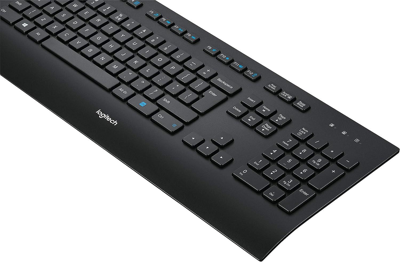 Logitech K280e (Versión extranjera) Teclado Inalámbrico para Windows/Linux/Chrome, USB Plug-and-Play, Tamaño Normal, Resistente a Líquido, PC/Portátil, Disposición AZERTY Francés, color Negro