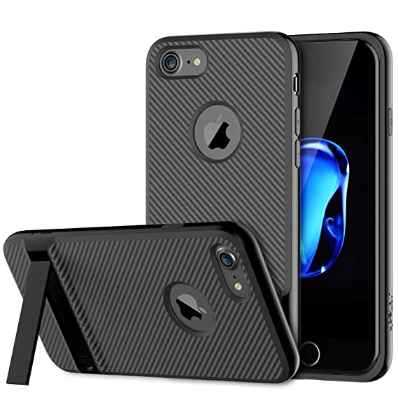 super popular 48ea1 2a898 JETech Case for iPhone 8 iPhone 7 with Microfiber and Self Stand (Black)
