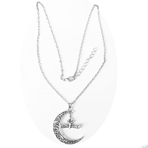 Crescent Moon Pendant on Cable Chain Necklace