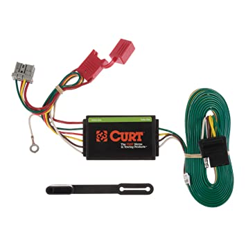 curt 56161 vehicle side custom 4 pin trailer wiring harness for select honda odyssey Honda Odyssey Axles