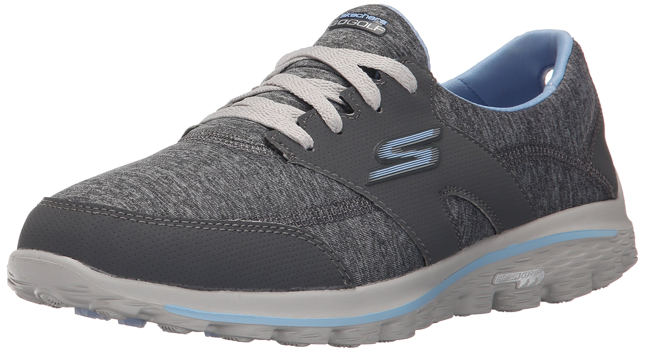 Skechers Performance Women's Go Walk 2  Backswing Golf Shoe,Gray/Blue,7.5 M US