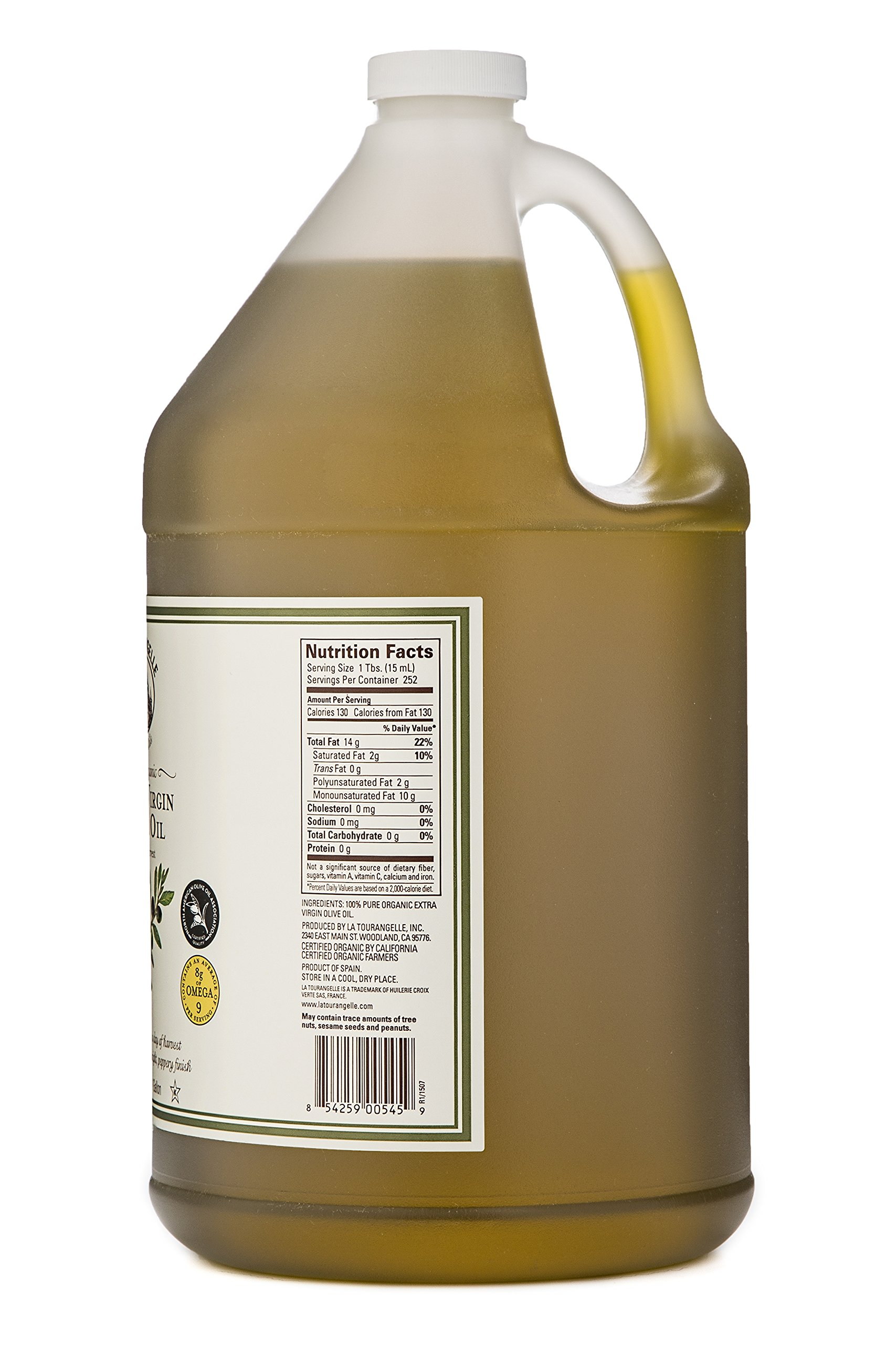 La Tourangelle Organic Extra Virgin Olive Oil 128 Fl. Oz., Organic Cold-Pressed Extra Virgin Olive Oil, All-Natural, Artisanal, Great for Cooking, Sauteing, and Dressing by La Tourangelle (Image #2)