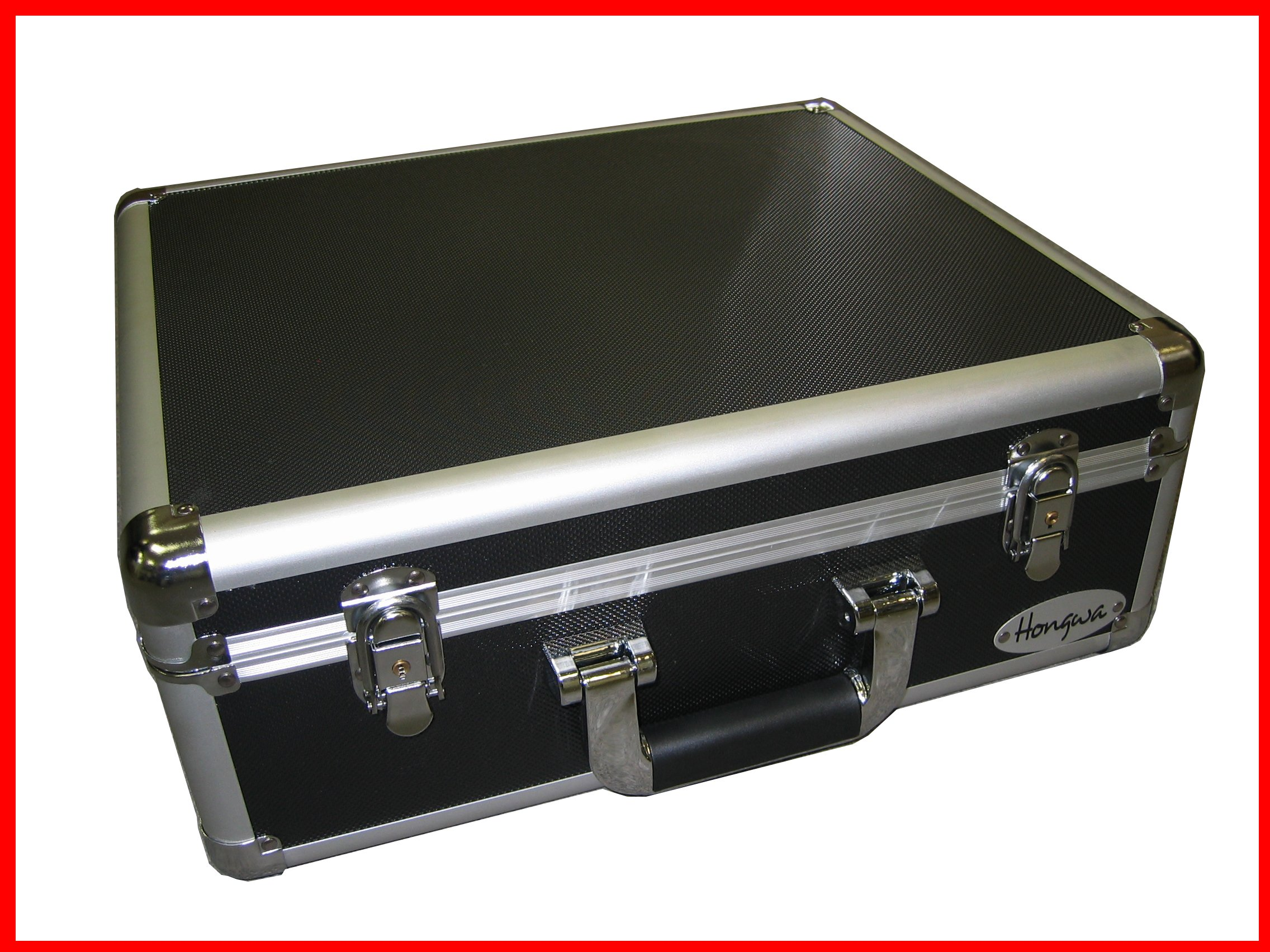 Black Aluminum Camera Case also for Tools and small Equipments With Foam Ship to Canada and USA