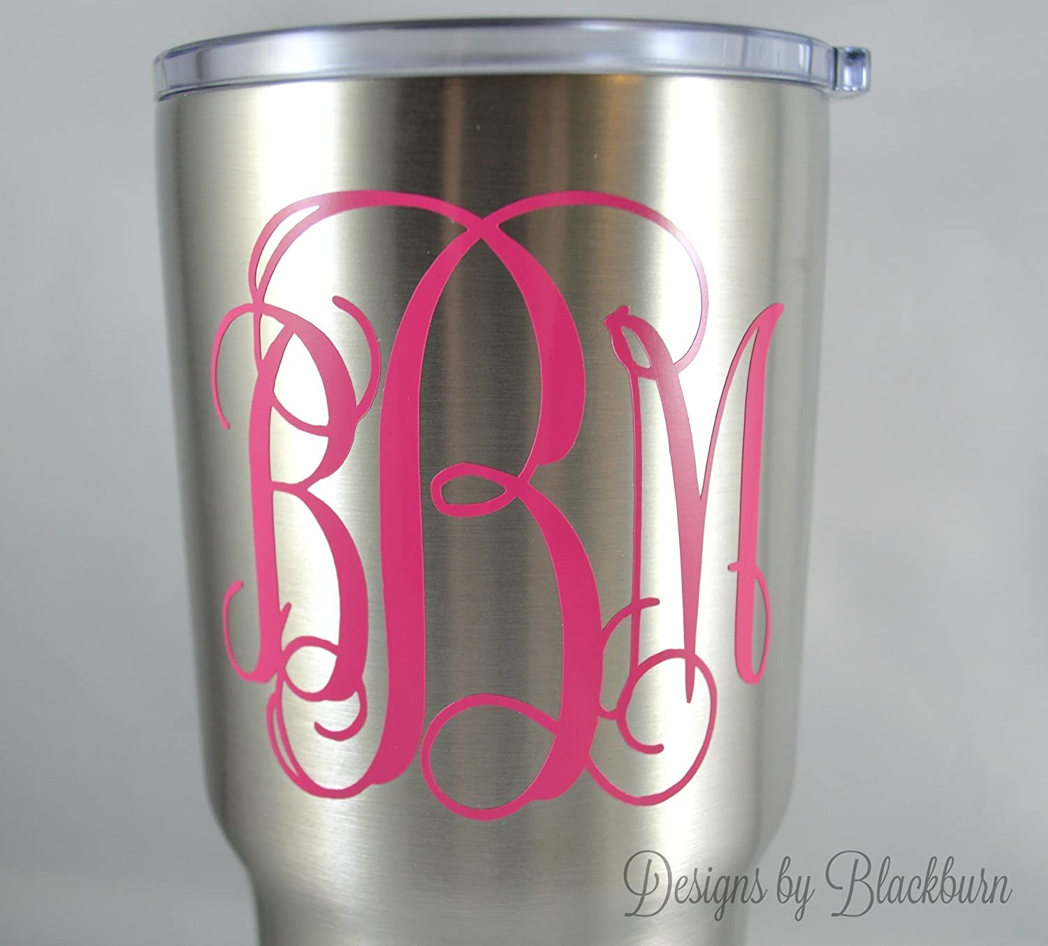 Amazon.com: Monogram Decal / Sticker in Vine Font - Solid and ...