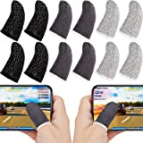Gaming Finger Sleeve Touchscreen Finger Sleeve Anti-Sweat Breathable Touchscreen Finger Sleeve for Mobile Phone Games (Black