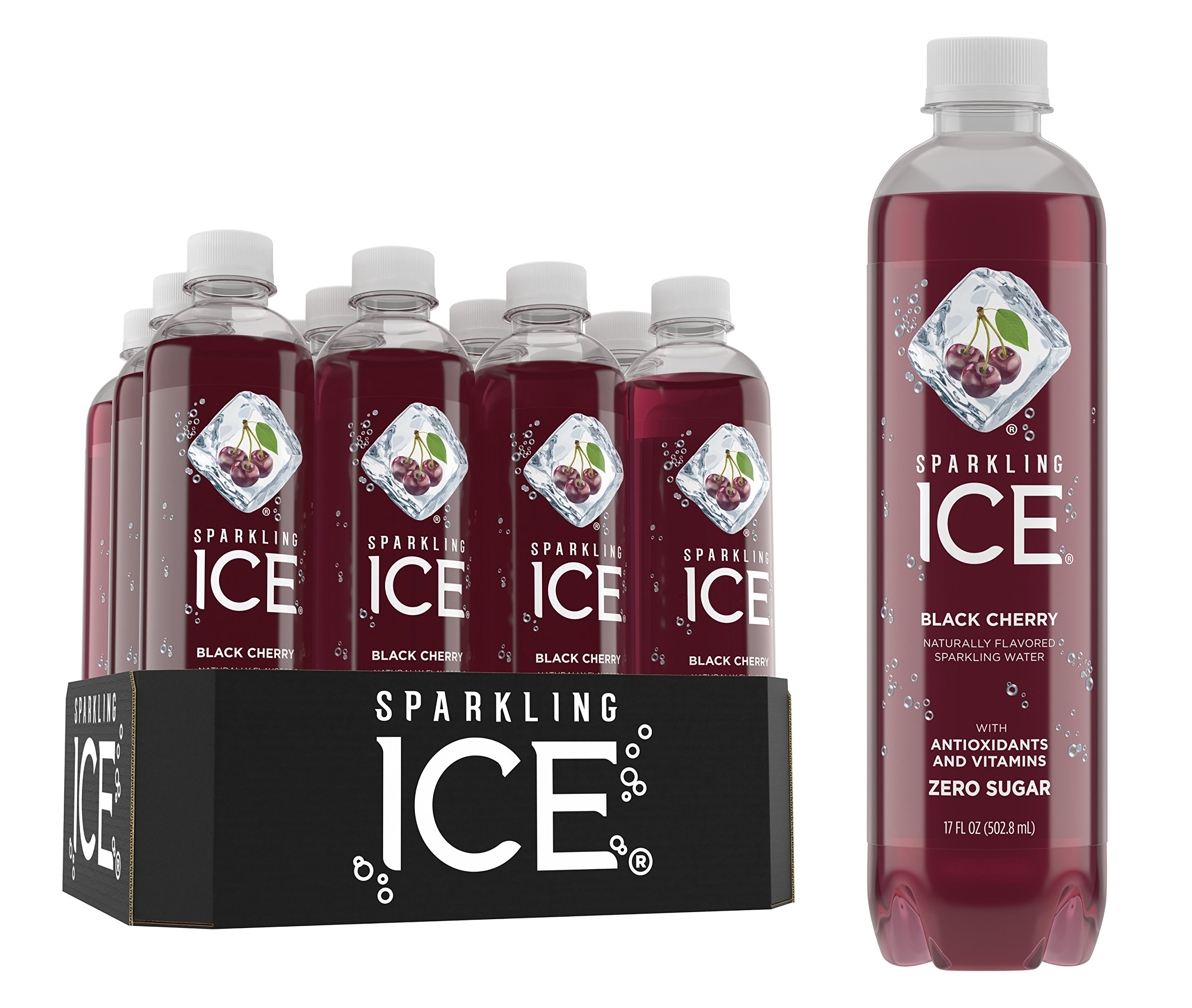 amazon com sparkling ice black raspberry sparkling water with