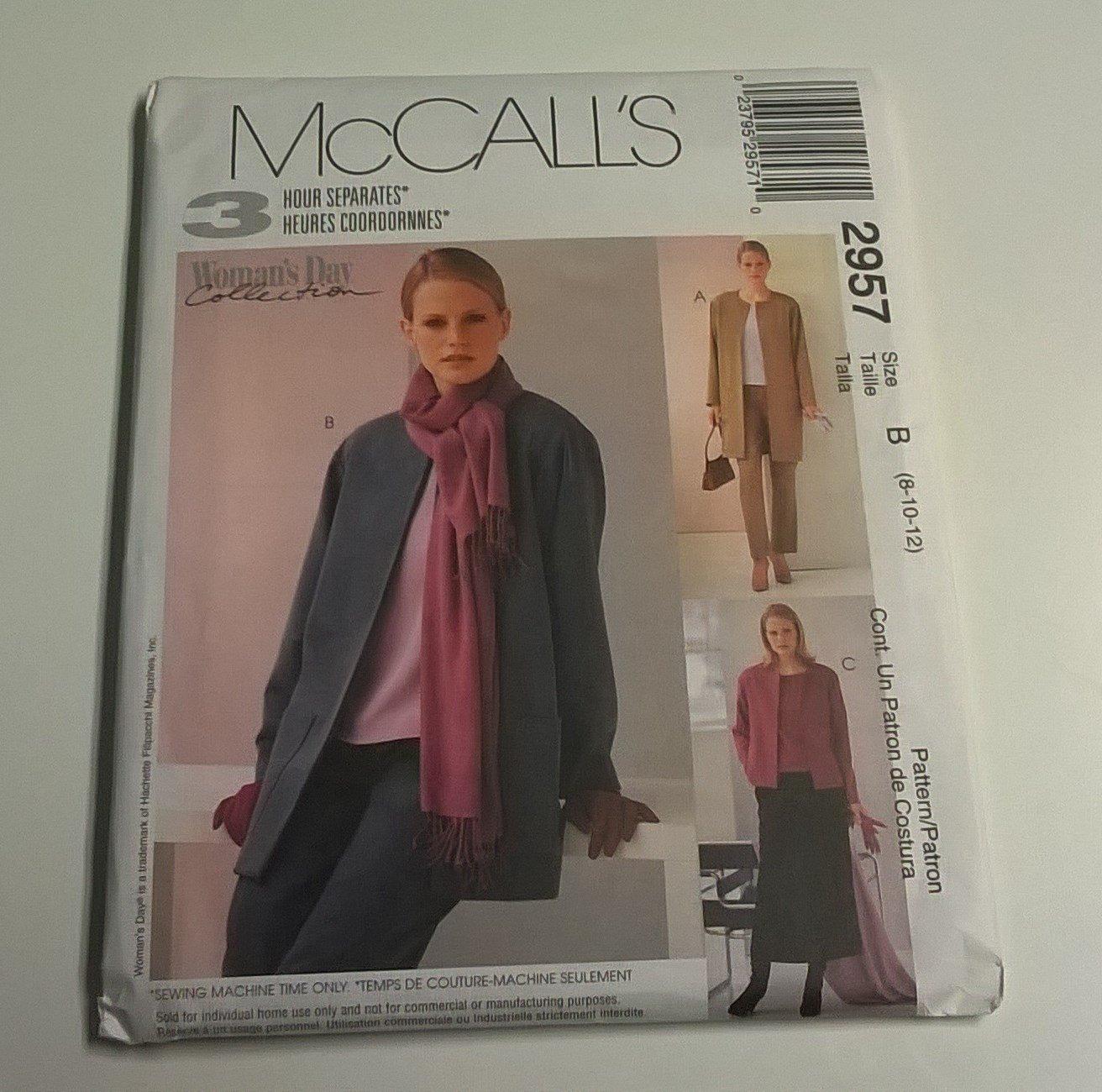 Download McCall's pattern 2957 (Size B / 8-10-12) PDF