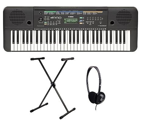 Yamaha PSR-E253 - Set de teclado (con soporte y auriculares, 61 teclas, producción de sonido AWM ...