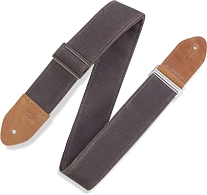 "Levy/'s Leathers 2½/"" Leather Guitar Strap M1-BRN"