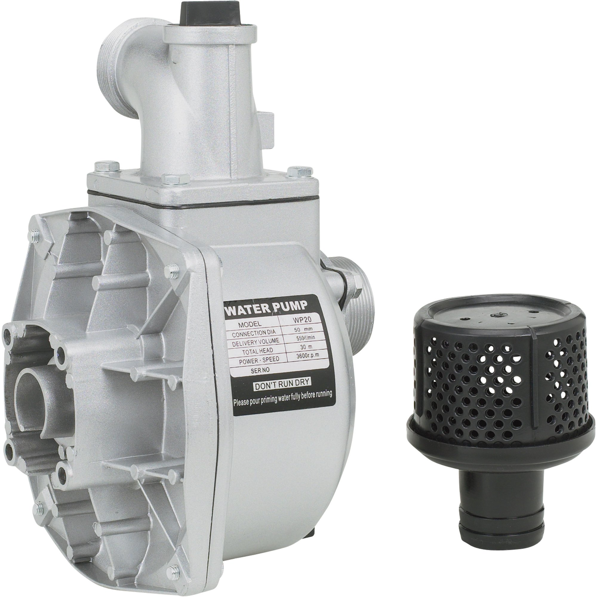 Semi-Trash Water Pump ONLY - For Threaded Shafts, 2in. Ports, 7860 GPH