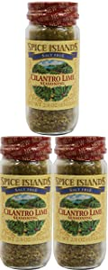 Set of 3 Spice Island Salt Free Cilantro Lime Seasoning - 8.7 Total Ounces - Great for Spicing Up Home Cooking!