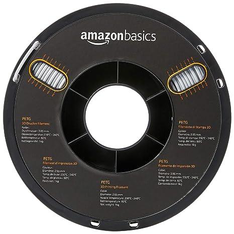 AmazonBasics – Filamento de PETG para impresora 3D, 2,85 mm ...