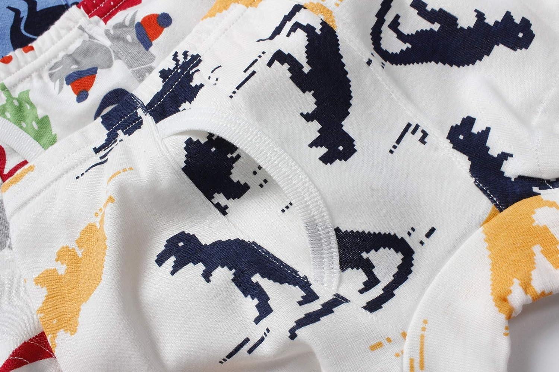 YUTING Boys Boxer Briefs Toddler Underwear Comfortable Soft Cotton Breathable Underwear 6 Pack 2-9Y