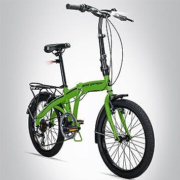Escalador Windsor 20 pulgadas bicicleta plegable, con ruedas, cambio de marchas Shimano 6,