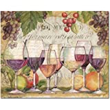 CounterArt 'Wine Country' Glass Cutting Board, 15 x 12""