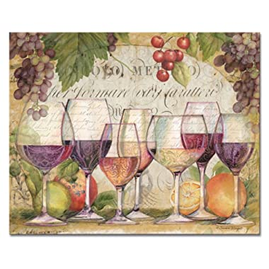 CounterArt 'Wine Country' Glass Cutting Board, 15 x 12  (23116)