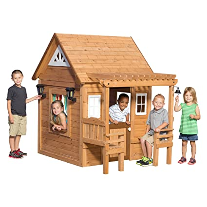 Amazoncom Backyard Discovery Cascade Cedar Playhouse Toys Games