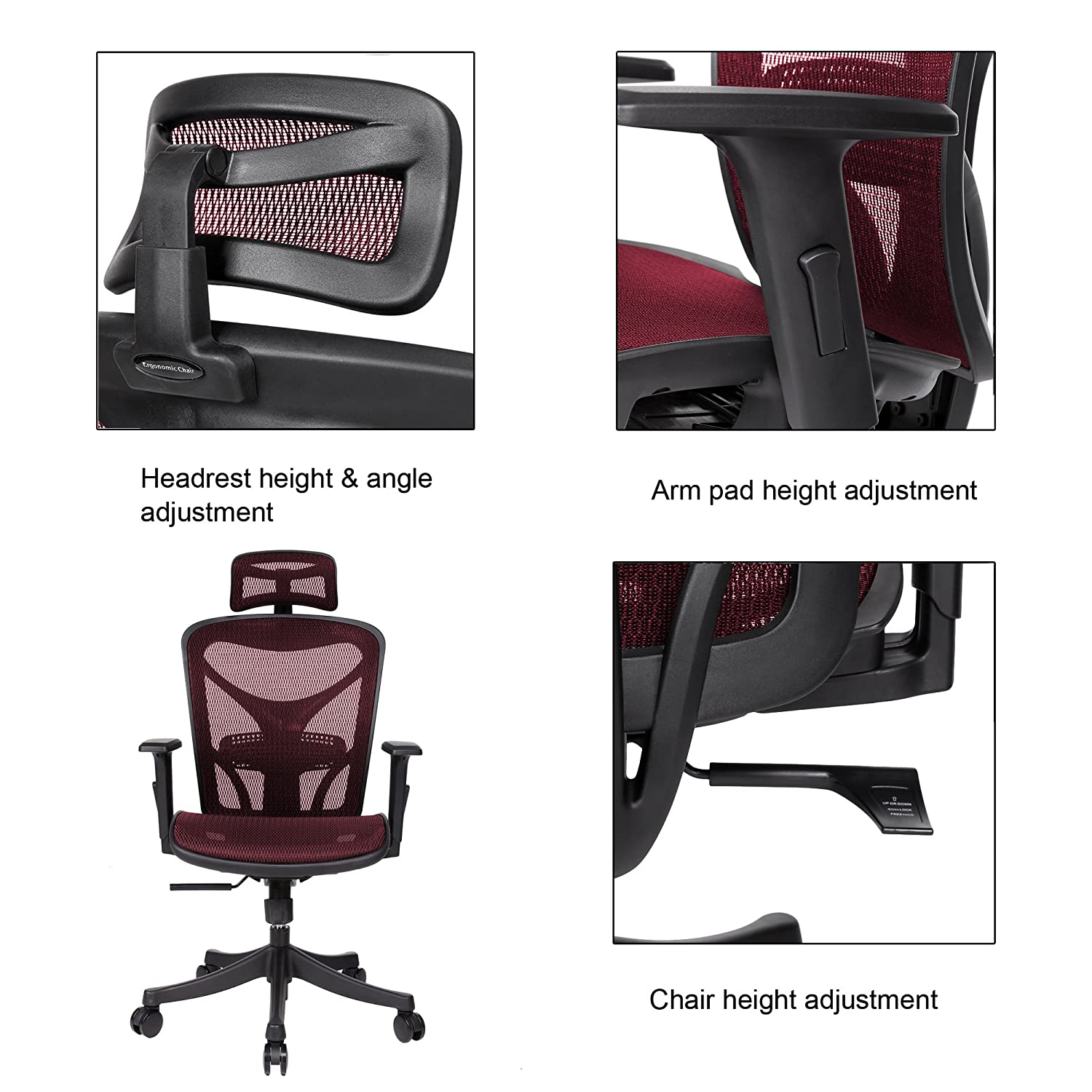 Amazon ANCHEER Ergonomic fice Chair High Back Mesh fice