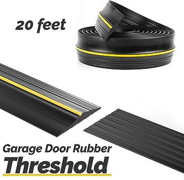 Panady Universal Garage Door Bottom Threshold Rubber Seal Strip 20ft Black Diy Weather Stripping Replacement Weatherstripping Seals Flood Barrier For Garage Doors Insulation Amazon Com