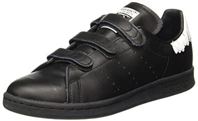 adidas Stan Smith CF, Sneakers Basses Femme, Noir (Core Black/Core Black