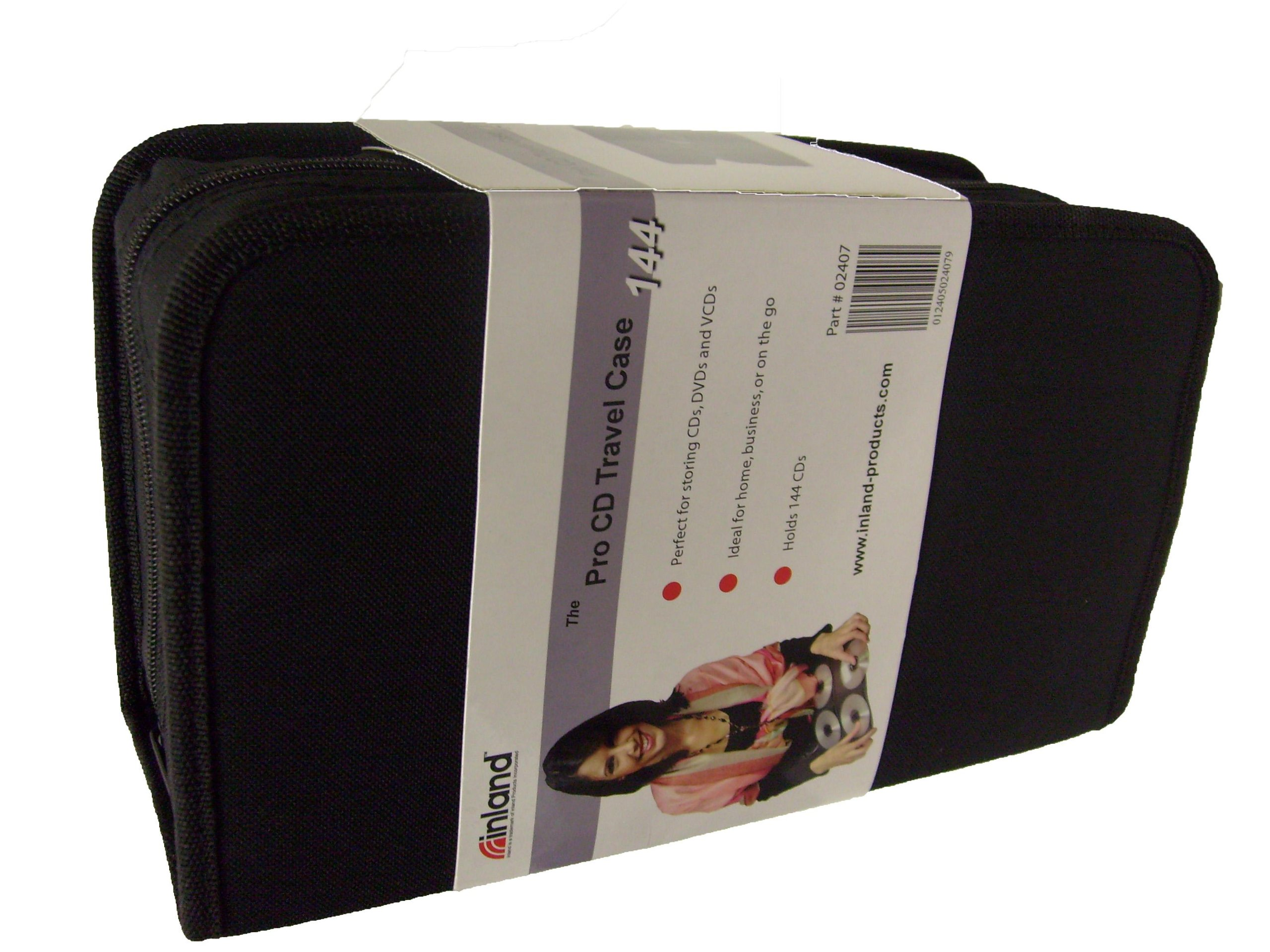 Inland Pro CD Travel Case (144 Disc Space) (Discontinued by Manufacturer)