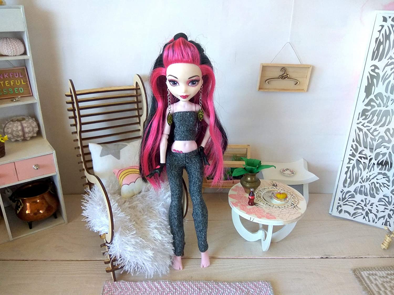 Miniature Leggings Tights Handmade Doll Outfit Casual Pants 12-inch Sportwear