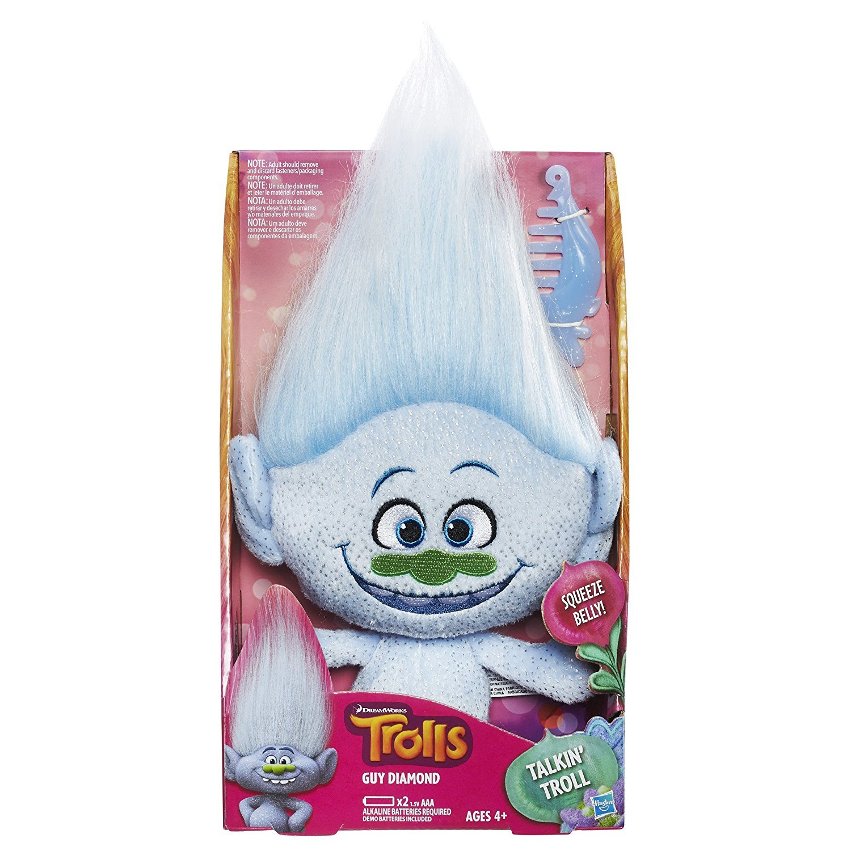 Balloonshop DreamWorks Trolls Guy Diamond Talkin' Troll Plush Doll by Balloonshop
