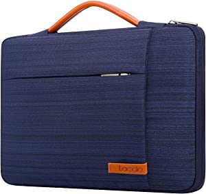 Lacdo 360° Protective Laptop Sleeve Case Computer Bag for 15.6 Inch Acer Aspire, Predator, Inspiron, ASUS ZenBook 15 VivoBook, HP Pavilion, IdeaPad 330, ThinkPad E590 Chromebook Water Repellent, Blue