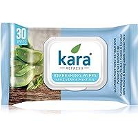 Kara Face Wipe - Cleansing & Hydrating, Refreshing, Mint Oil & Aloe Vera, 30 Wipes