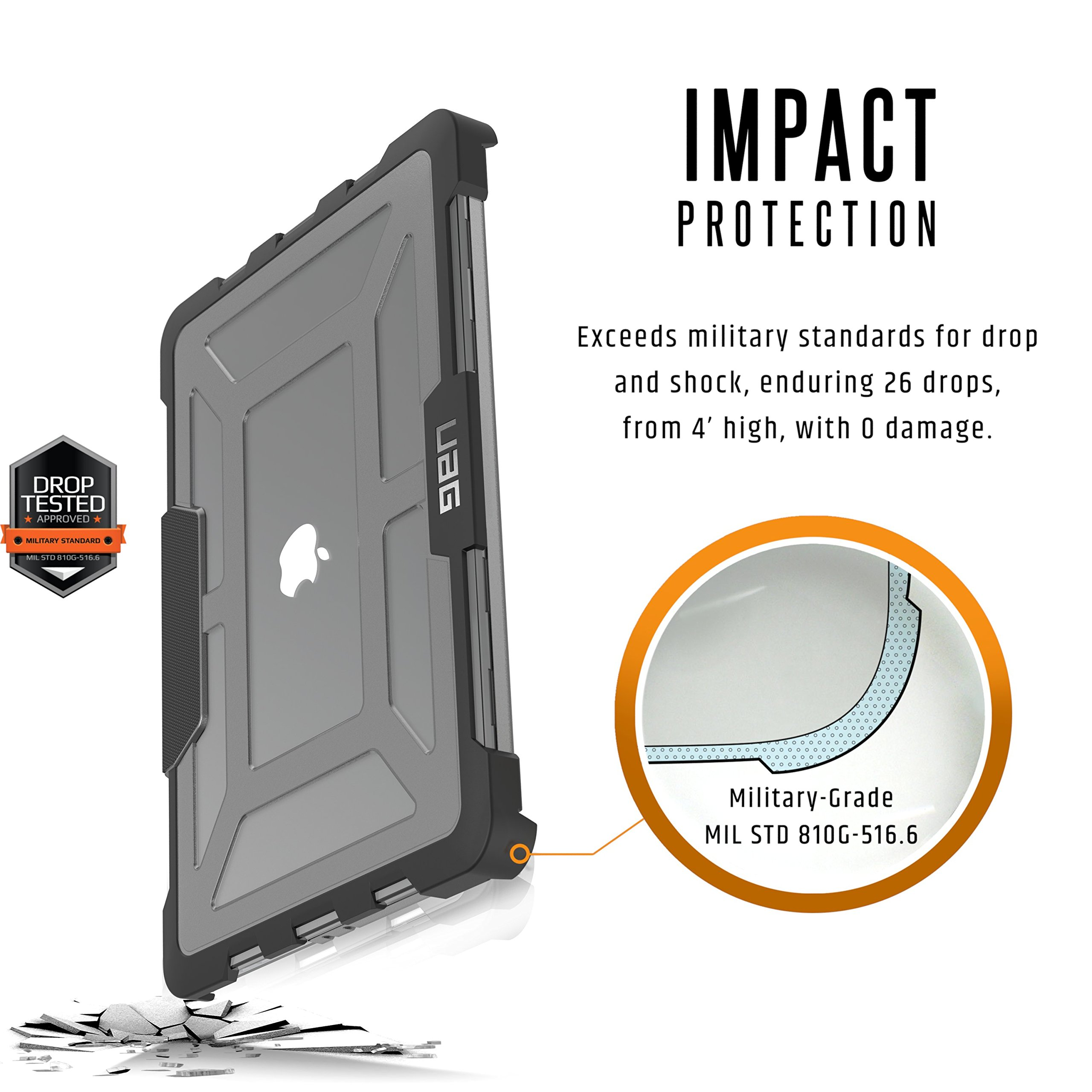 UAG MacBook Pro 13-inch with Retina Display (3rd Gen) Feather-Light Rugged [ASH] Military Drop Tested Laptop Case by URBAN ARMOR GEAR (Image #3)