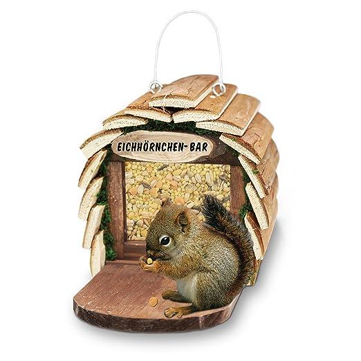 6 opinioni per Gardigo scoiattoli mangiatoia per uccelli a buffet Bar Feeder fatta di legno in
