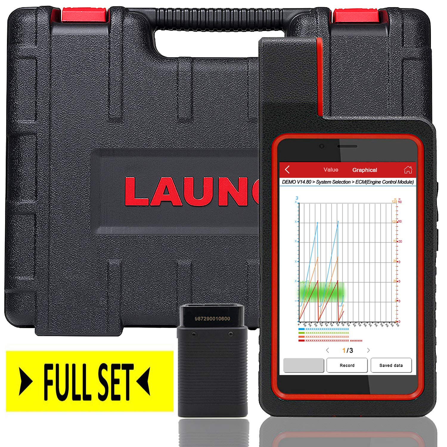 LAUNCH X431 DIAGUN IV WiFi/Bluetooth OBD2 Scanner Auto Full System Diagnostic Tool Support ECU Coding,Actuation Test,Remote Diagnostic 11 Reset Functions Diagnostic Report - Free Update 2 Years