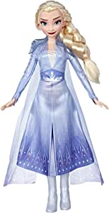 Disney Frozen 2 - Elsa Fashion Doll in Long Blonde Hair & Blue Movie Inspired Outfit - Toys for kids, girls, boys - Ages 3+
