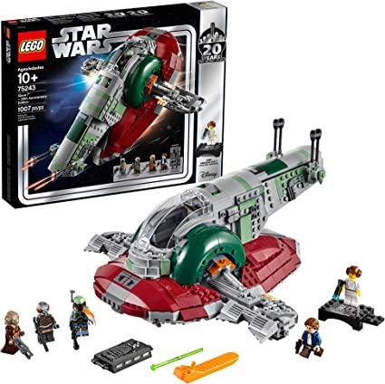 Amazon Com Lego Star Wars Slave L 20th Anniversary Edition 75243 Building Kit 1007 Pieces Toys Games