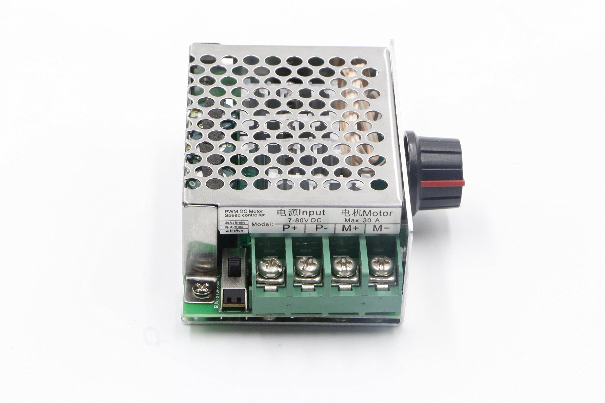 RioRand 7-80V PWM DC Motor Speed Controller Switch 30A - RR-MJLK ...