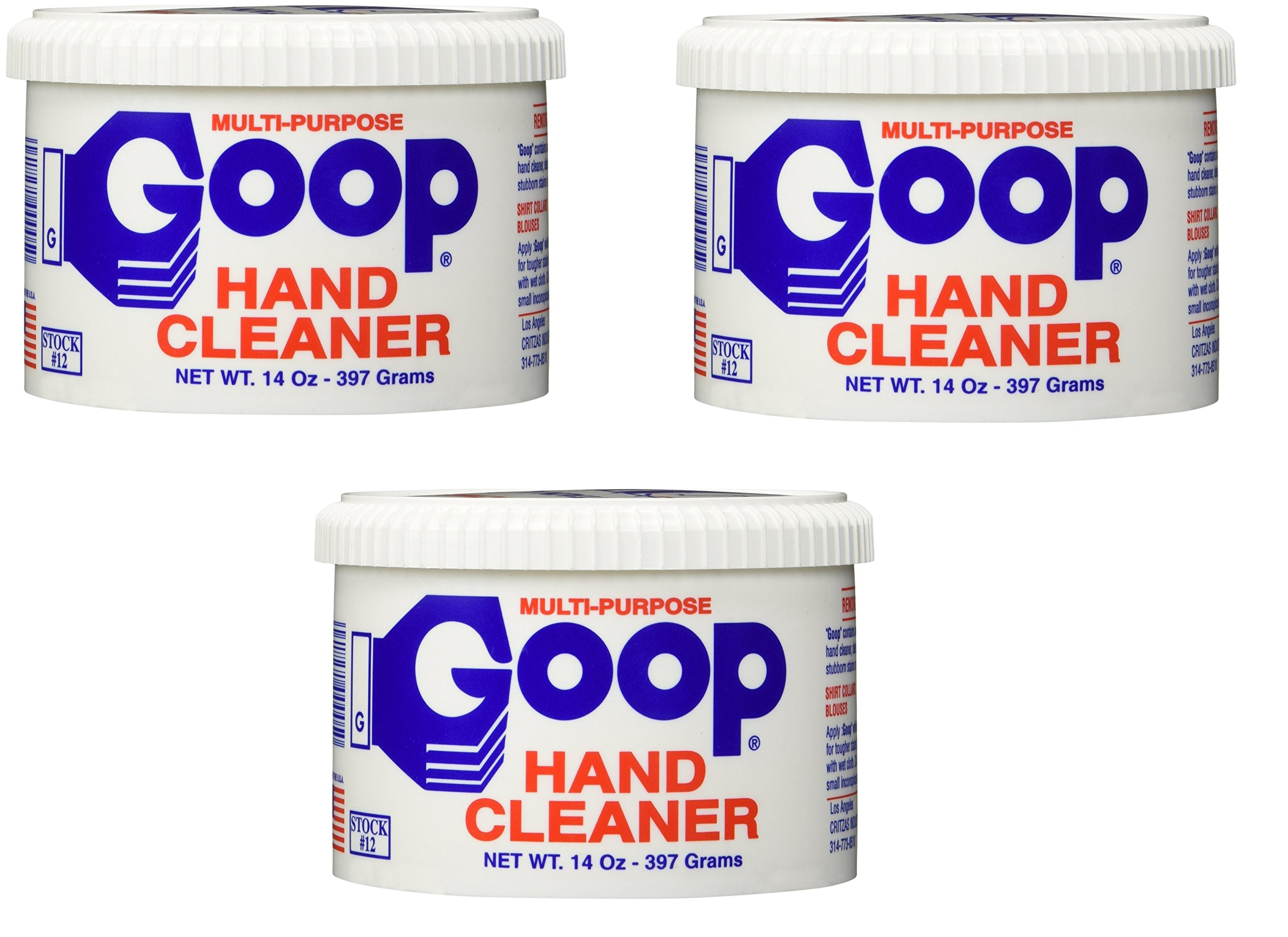Goop Hand Cleaner, Laundry Stain Remover, (Pack of 3) product image
