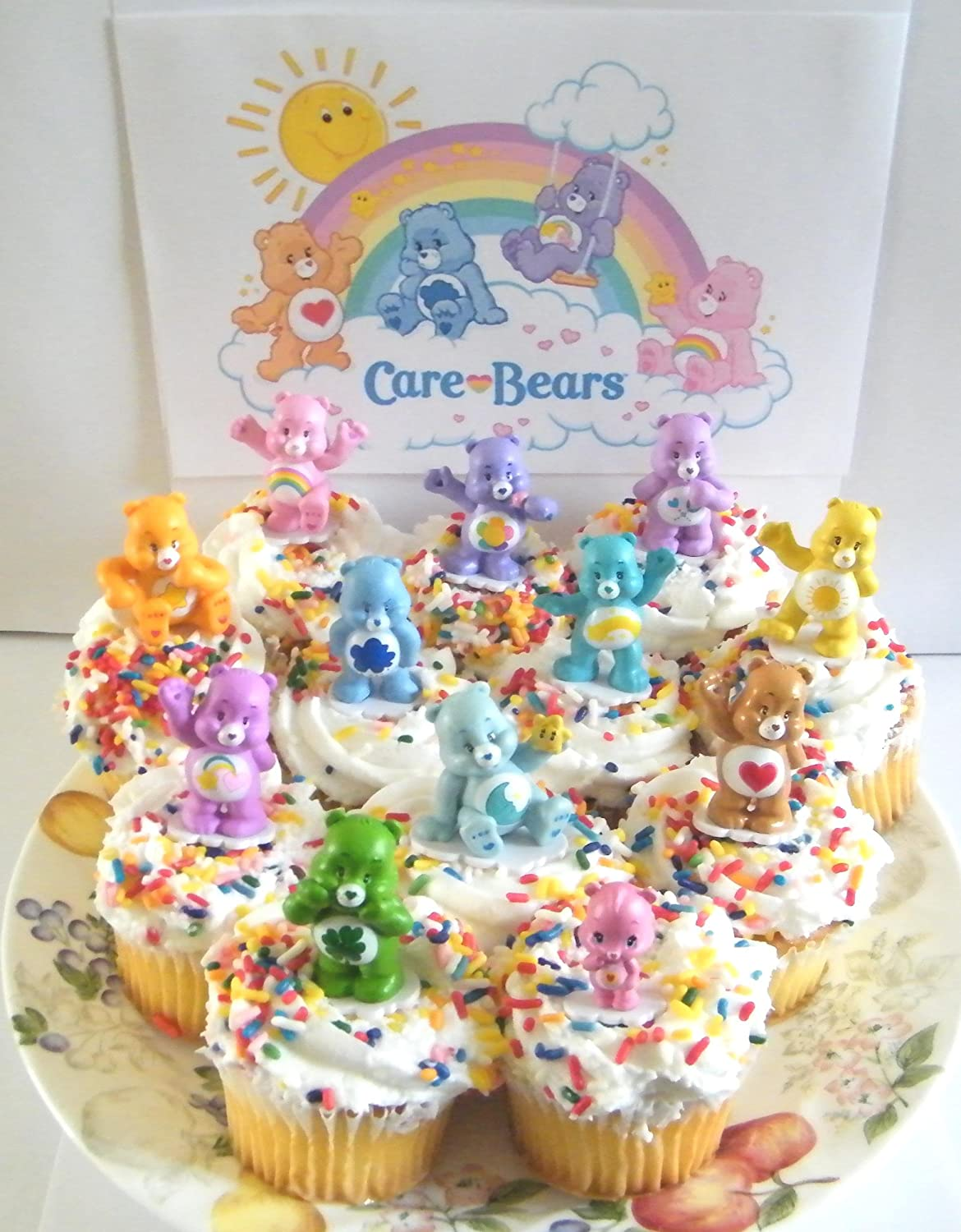 Amazon Care Bears Cupcake Topper Birthday Party Decorations Set