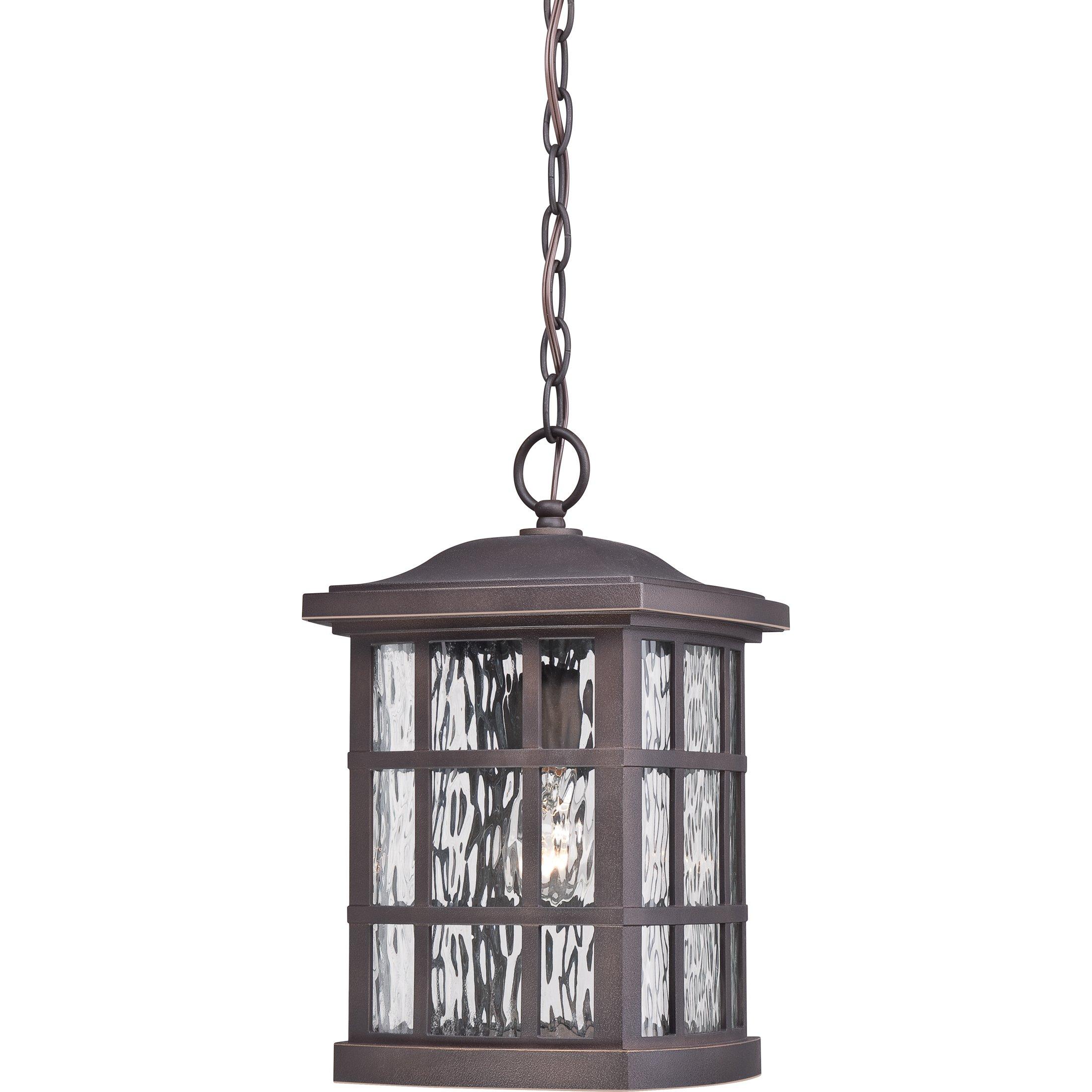Quoizel SNN1909PN 1-Light Stonington Outdoor Lantern in Palladian Bronze