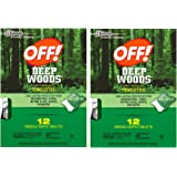 Off! Deep Woods Insect Repellent Wipes, 20 Towelettes