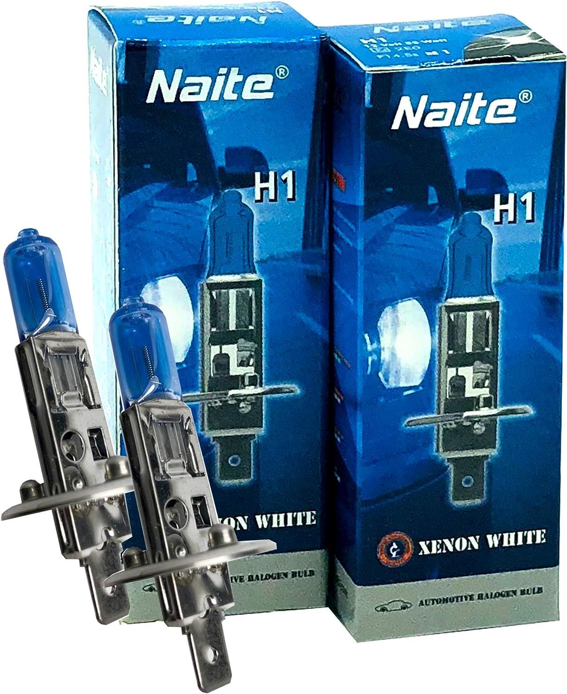 H1 Birnen Xenon Optik 2 Stück Halogenlampen Super Weiss 12 Volt 55 Watt Naite Auto