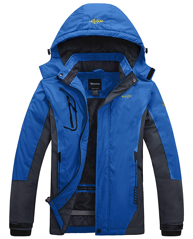 Wantdo Chaqueta de Esquí Impermeable al Aire Libre para Hombres Excursión con Forro: Amazon.es: Ropa y accesorios
