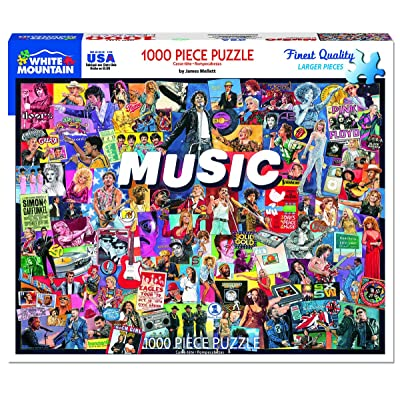 White Mountain Puzzles Music - 1000 Piece Jigsaw Puzzle: Toys & Games
